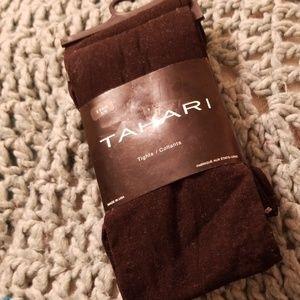 Tahari black tights 2 pair S/M
